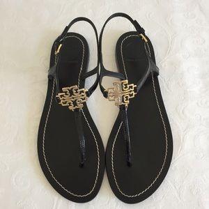Tory Burch logo flat thong sandals